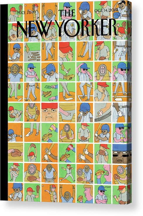 Inside Baseball Acrylic Print featuring the painting Inside Baseball by Edward Steed