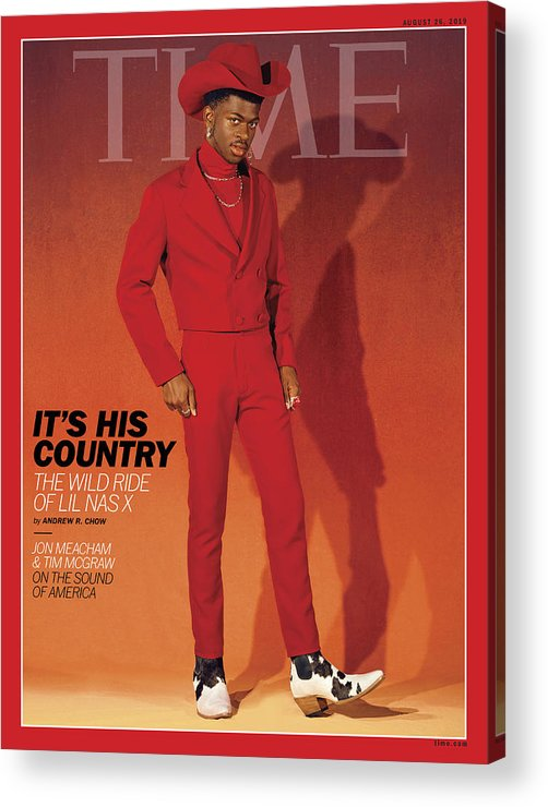 Music Acrylic Print featuring the photograph It's His Country - Lil Nas X by Photograph by Kelia Anne for TIME