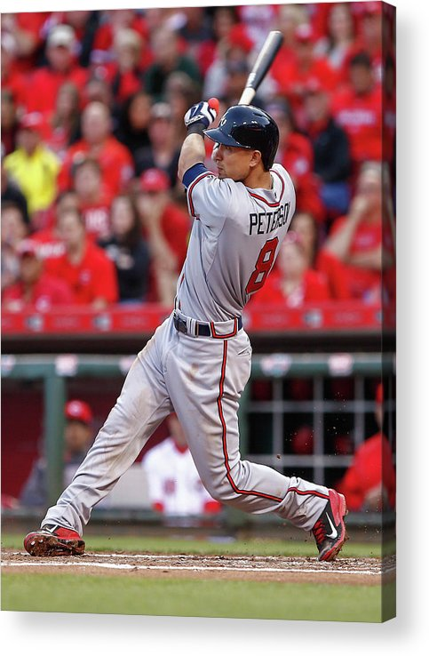 Great American Ball Park Acrylic Print featuring the photograph Jace Peterson by Michael Hickey
