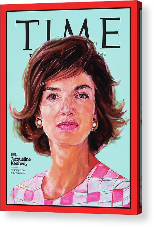 Time Acrylic Print featuring the photograph Jacqueline Kennedy, 1962 by Painting by Shana Wilson for TIME