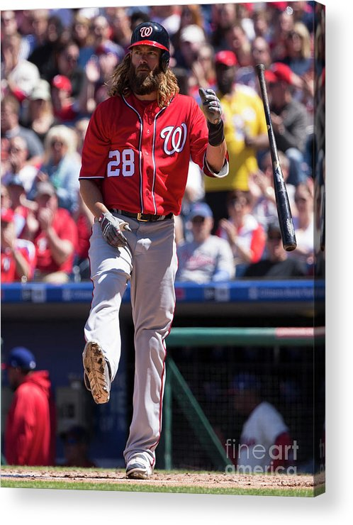 Second Inning Acrylic Print featuring the photograph Jayson Werth by Mitchell Leff