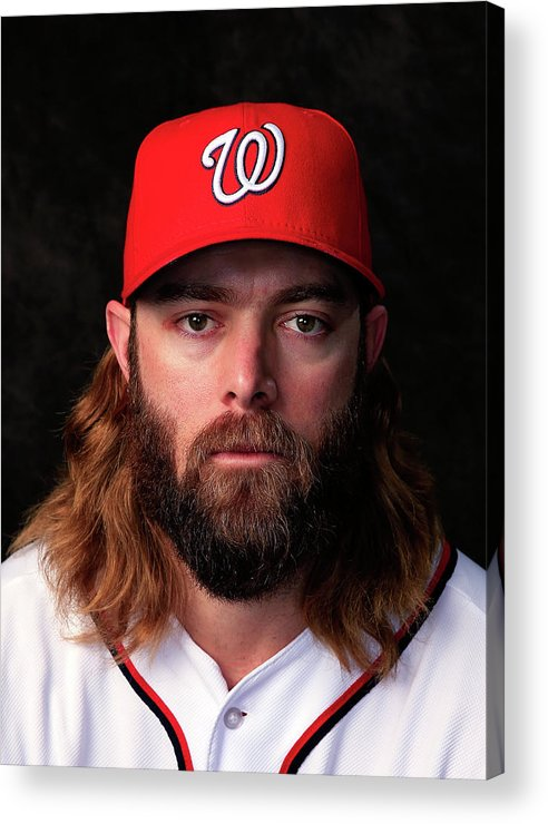 Media Day Acrylic Print featuring the photograph Jayson Werth by Rob Carr