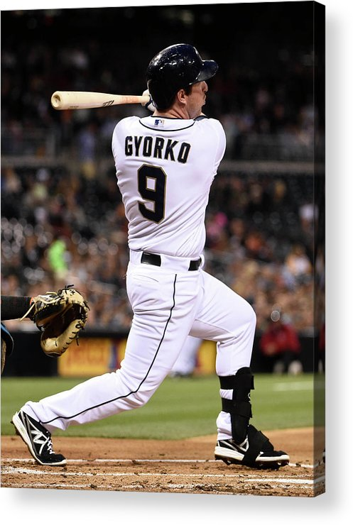Second Inning Acrylic Print featuring the photograph Jedd Gyorko by Denis Poroy