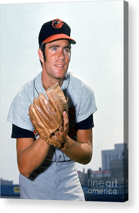 American League Baseball Acrylic Print featuring the photograph Jim Palmer by Louis Requena