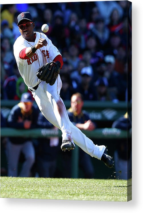 American League Baseball Acrylic Print featuring the photograph Jonathan Herrera by Jared Wickerham