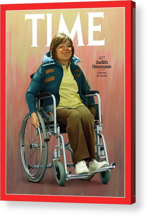 Time Acrylic Print featuring the photograph Judith Heumann, 1977 by Illustration by Jason Seiler for TIME