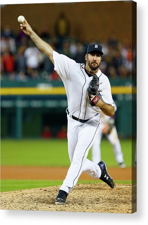 Ninth Inning Acrylic Print featuring the photograph Justin Verlander by Duane Burleson
