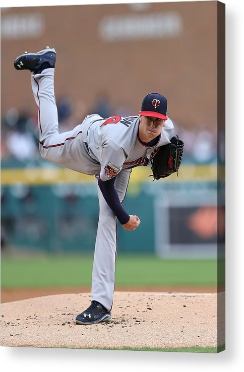 American League Baseball Acrylic Print featuring the photograph Kyle Gibson by Leon Halip