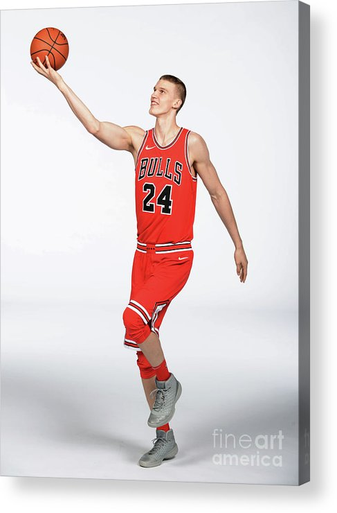 Media Day Acrylic Print featuring the photograph Lauri Markkanen by Randy Belice