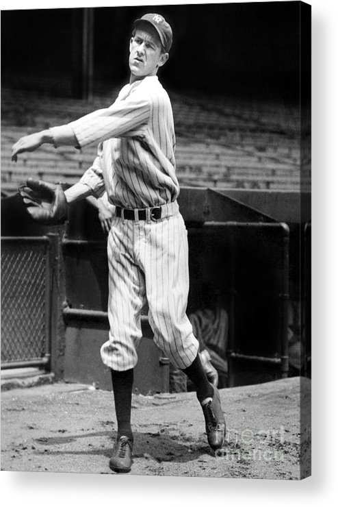 1930-1939 Acrylic Print featuring the photograph Lefty York by National Baseball Hall Of Fame Library