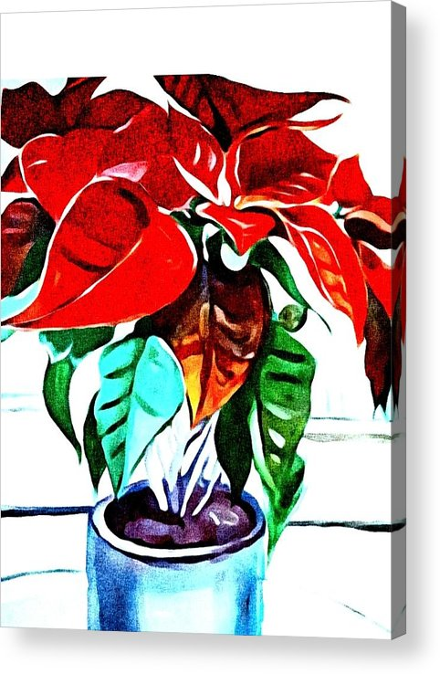 Still Life Acrylic Print featuring the painting Living Flower by Andrew Johnson