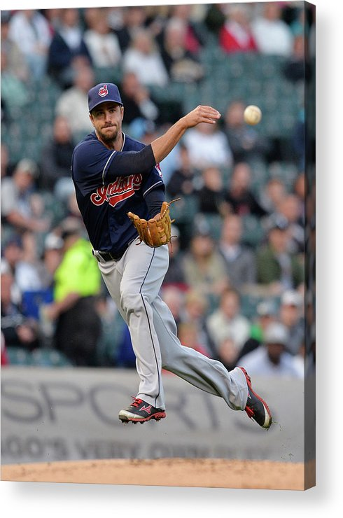 American League Baseball Acrylic Print featuring the photograph Lonnie Chisenhall and Gordon Beckham by Brian Kersey