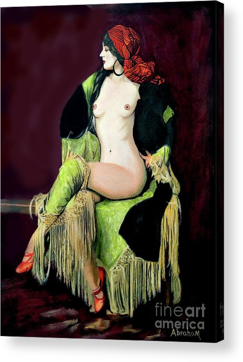 Women Acrylic Print featuring the painting Looking Good by Jose Manuel Abraham