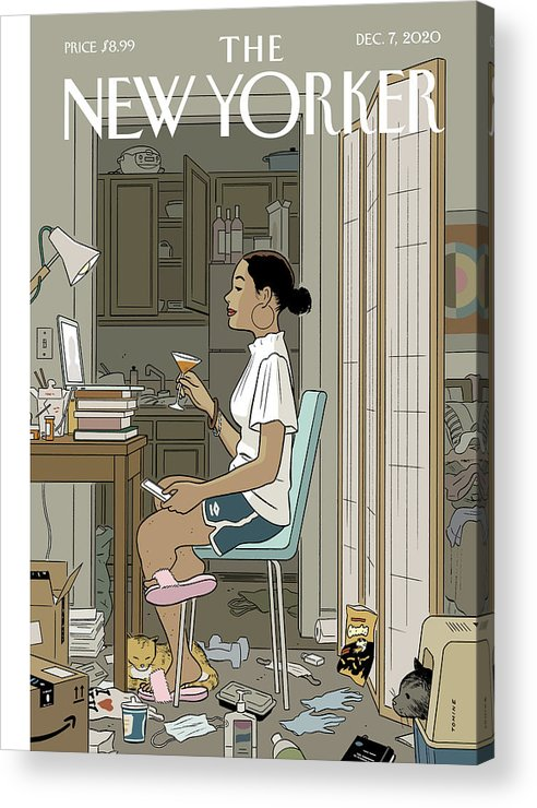 Pandemic Acrylic Print featuring the digital art Love Life by Adrian Tomine