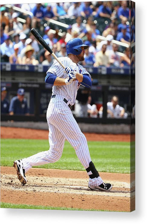 People Acrylic Print featuring the photograph Lucas Duda by Al Bello