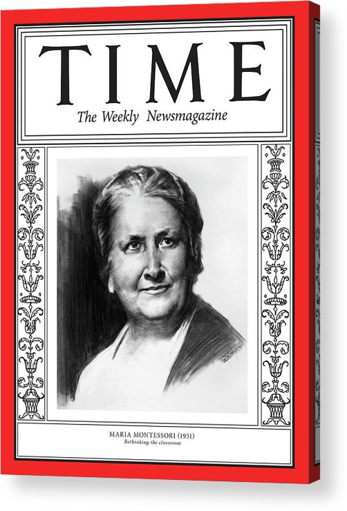 Time Acrylic Print featuring the photograph Maria Montessori, 1931 by Illustration by Matt Smith for TIME