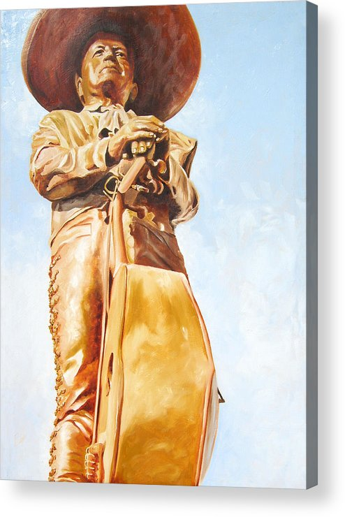 Mariachi Acrylic Print featuring the painting Mariachi by Laura Pierre-Louis