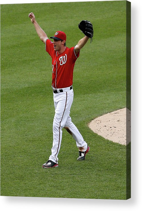 People Acrylic Print featuring the photograph Max Scherzer by Rob Carr
