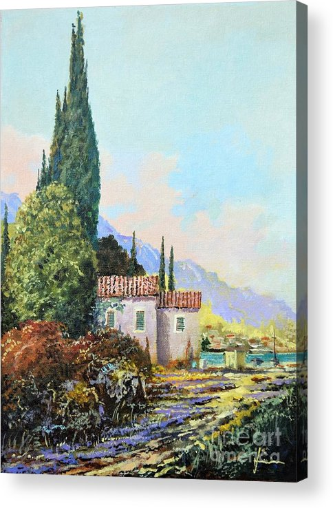 Original Painting Acrylic Print featuring the painting Mediterraneo 2 by Sinisa Saratlic