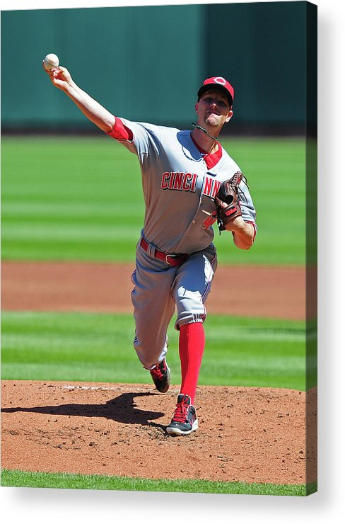 Mike Leake Acrylic Print featuring the photograph Mike Leake by Jeff Curry