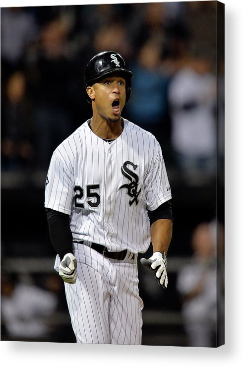 Ninth Inning Acrylic Print featuring the photograph Moises Sierra by Brian Kersey
