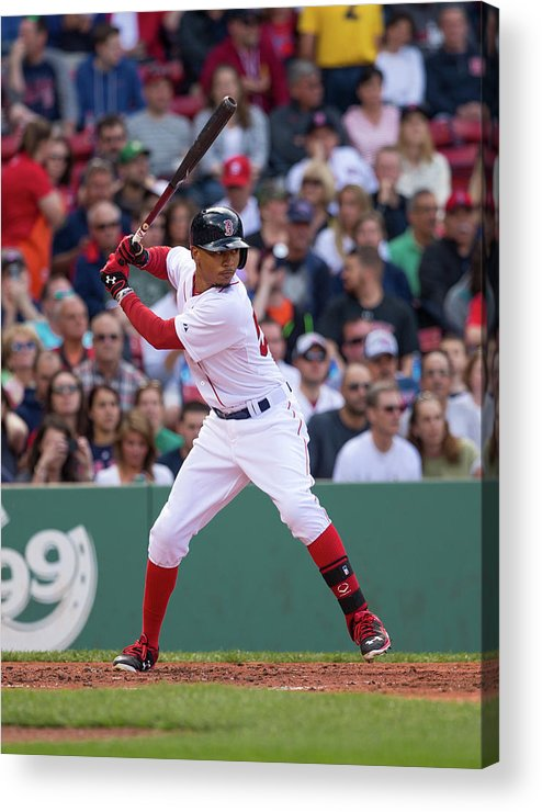 Second Inning Acrylic Print featuring the photograph Mookie Betts by Rich Gagnon