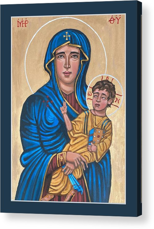 Acrylic Print featuring the painting Mother of God Protectress of Health by Kelly Latimore
