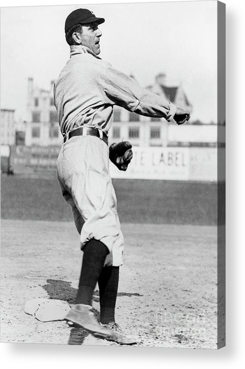 American League Baseball Acrylic Print featuring the photograph Nap Lajoie by National Baseball Hall Of Fame Library