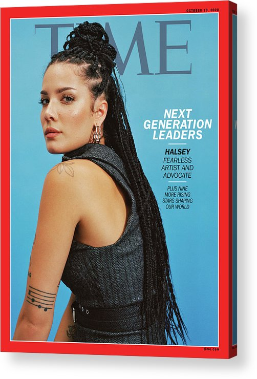 Next Generation Leaders Acrylic Print featuring the photograph NGL - Halsey by Photograph by Daria Kobayashi Ritch for TIME