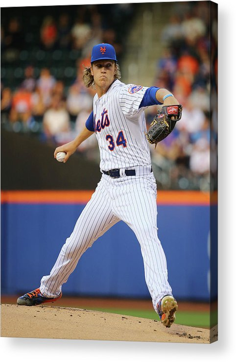 People Acrylic Print featuring the photograph Noah Syndergaard by Al Bello