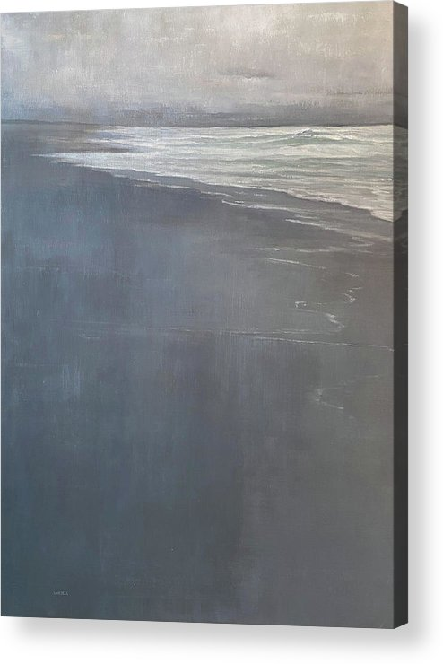 Acrylic Print featuring the painting Point Reyes by Mary Jo Van Dell