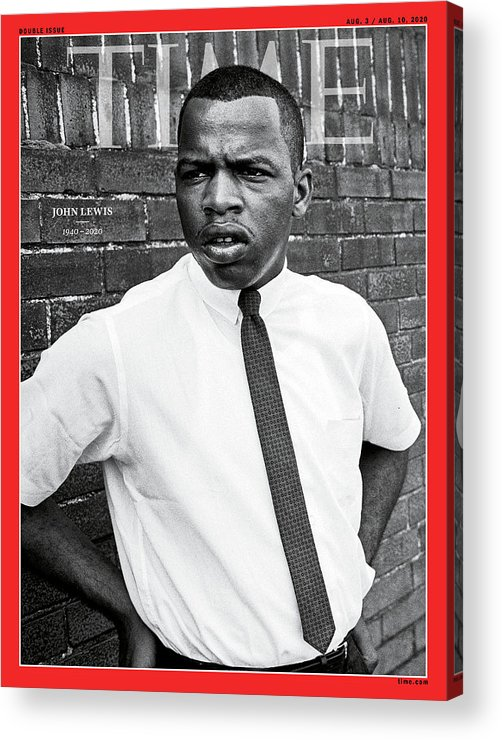 Rep. John Lewis Acrylic Print featuring the photograph Rep. John Lewis 1940-2020 by Steve Schapiro Getty Images