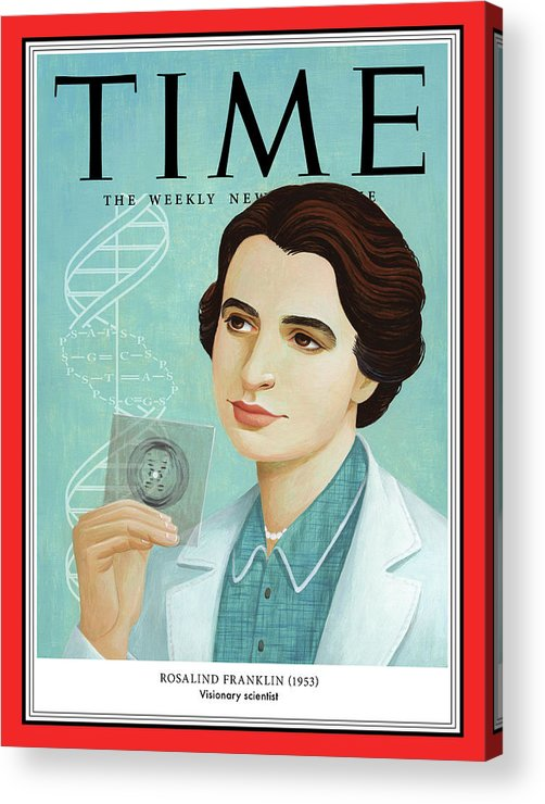 Time Acrylic Print featuring the photograph Rosalind Franklin, 1953 by Illustration by Jody Hewgill for TIME