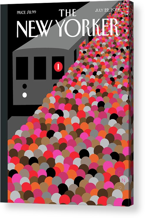 146602 Acrylic Print featuring the painting The Commute by Christoph Niemann