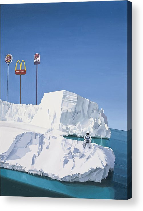 Astronaut Acrylic Print featuring the painting The Iceberg by Scott Listfield