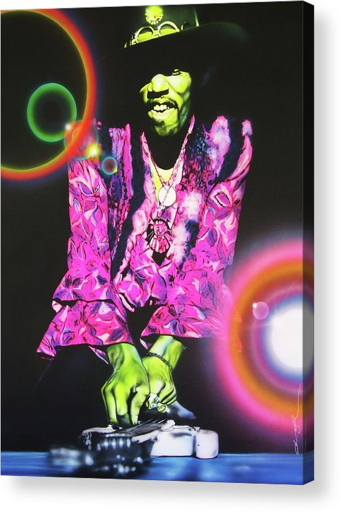 Jimi Hendrix Acrylic Print featuring the photograph Third Stone From The Sun by Christian Chapman Art