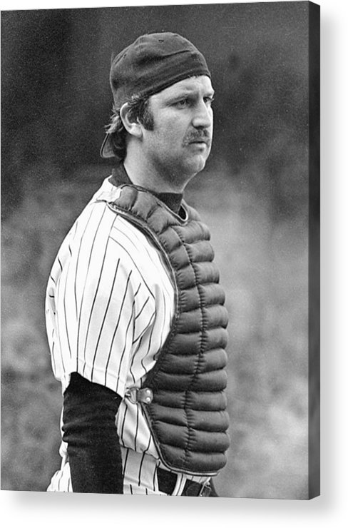 Thurman Munson Acrylic Print featuring the photograph Thurman Munson by Ronald C. Modra/sports Imagery
