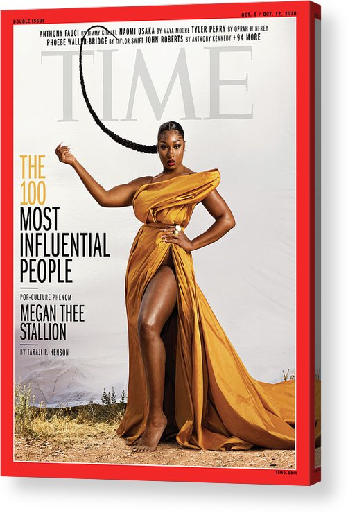 Time 100 Most Influential People Acrylic Print featuring the photograph TIME 100 - Megan Thee Stallion by Photograph by Dana Scruggs for TIME