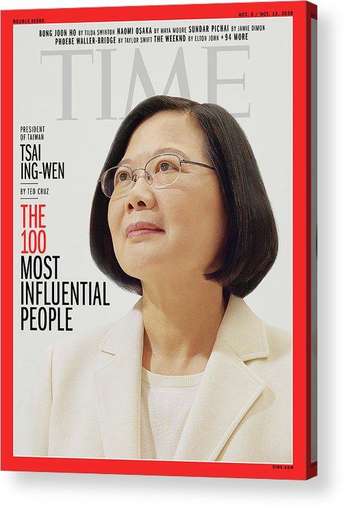 2020 Time 100 Acrylic Print featuring the photograph TIME 100 - Tsai Ing-Wen by Photograph by Nhu Xuan Hua for TIME