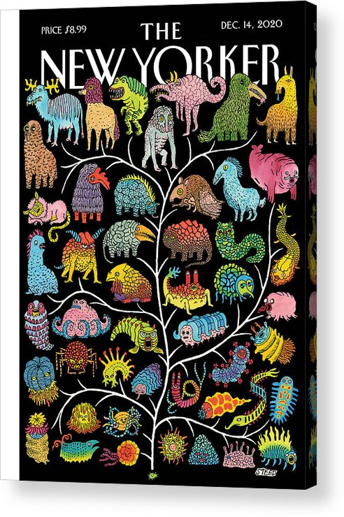 Life Acrylic Print featuring the painting Tree of Life by Edward Steed