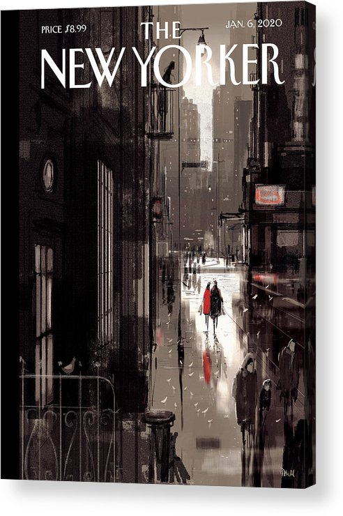 Twilight Avenue Acrylic Print featuring the drawing Twilight Avenue by Pascal Campion