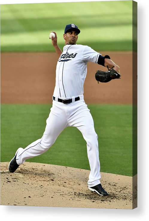 Second Inning Acrylic Print featuring the photograph Tyson Ross by Denis Poroy