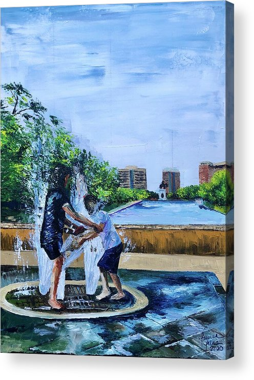 Hermann Park Acrylic Print featuring the painting UnADULTurated Fun by Lauren Luna