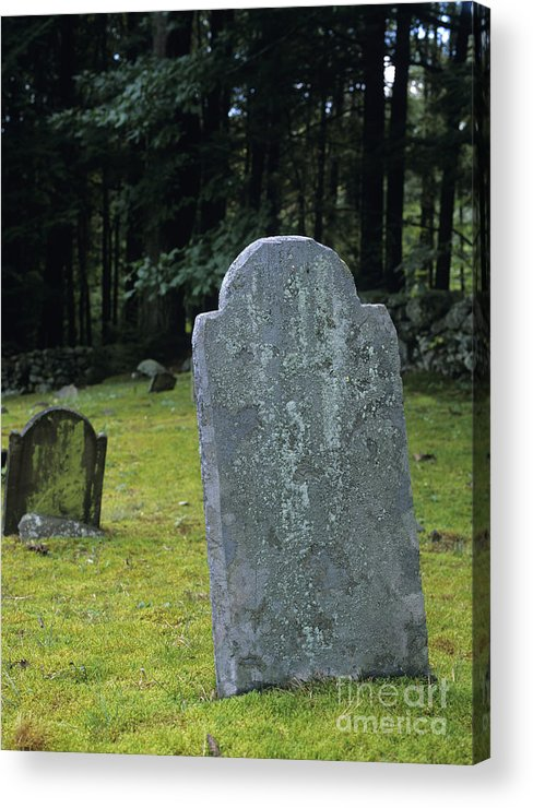 Gravestone Acrylic Print featuring the photograph Ye Olde Cemetery - Danville New Hampshire by Erin Paul Donovan