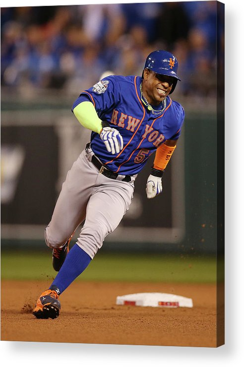 Playoffs Acrylic Print featuring the photograph Yoenis Cespedes by Brad Mangin
