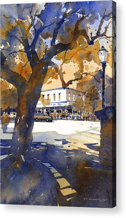 Toomers Oaks Acrylic Print featuring the painting The College Street Oak by Iain Stewart