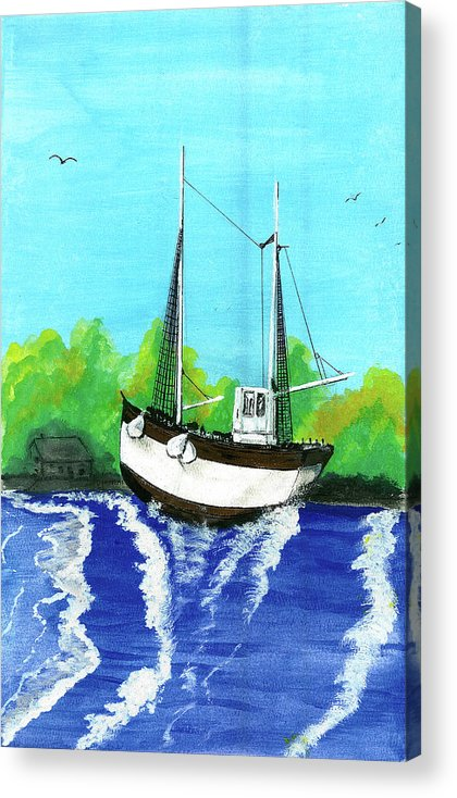Acrylic Print featuring the drawing Hope in Dispair by Harry Richards
