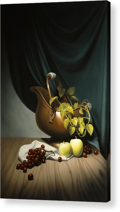Still Life Painting Acrylic Print featuring the painting Still Life Painting Zanndam Evening by Eric Bossik