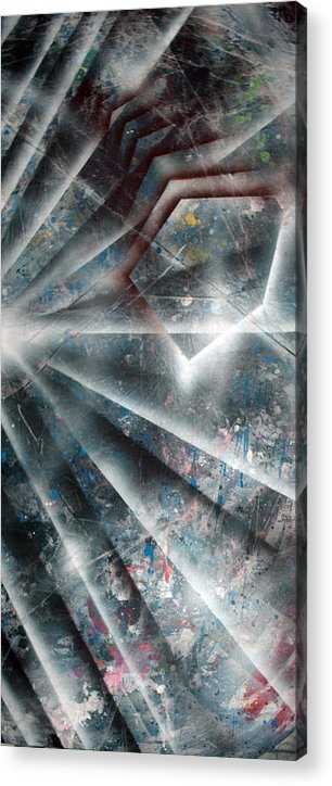 Paint Acrylic Print featuring the painting Emergence by Leigh Odom