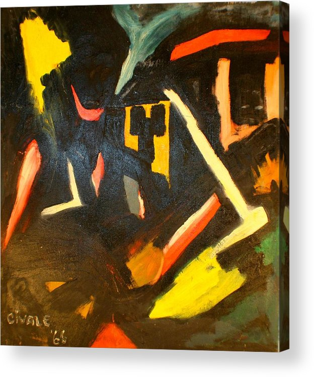 Acrylic Print featuring the painting Abstract Houses by Biagio Civale